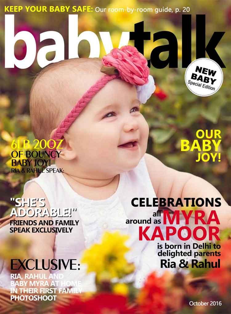 Babytalk New Baby Personalised Magazine Cover