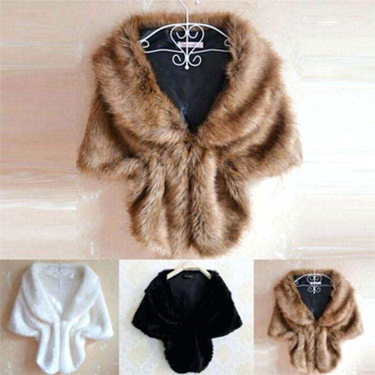 Fur Stoles, Scarves And Shrugs