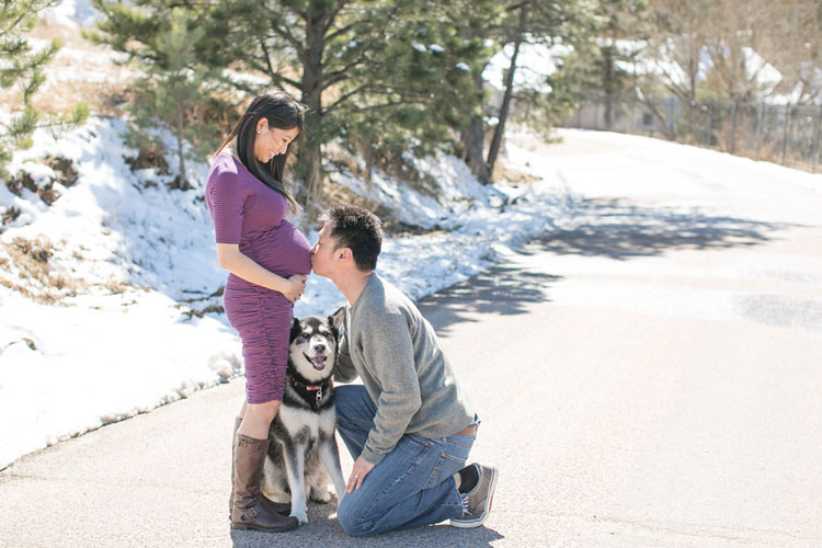 Beautiful Winter Maternity Shoot