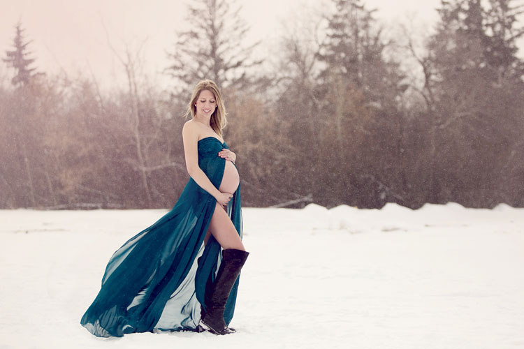 Winter Outdoor Maternity